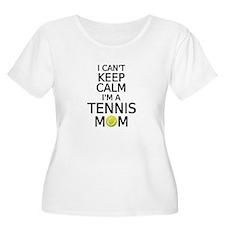 I cant keep calm, I am a tennis mom Plus Size T-Sh