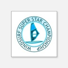 "Windsurf Super Star Square Sticker 3"" x 3"""