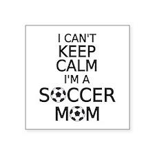 I cant keep calm, I am a soccer mom Sticker