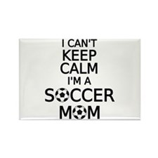 I cant keep calm, I am a soccer mom Magnets