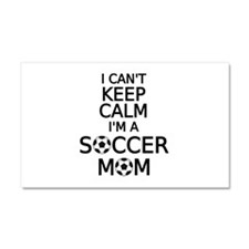 I cant keep calm, I am a soccer mom Car Magnet 20
