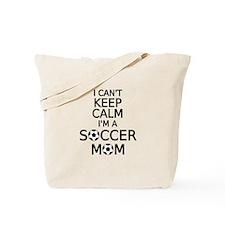 I cant keep calm, I am a soccer mom Tote Bag