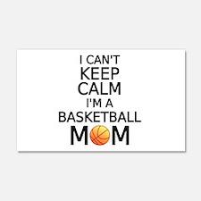 I cant keep calm, I am a basketball mom Wall Decal