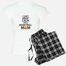 I cant keep calm, I am a basketball mom Pajamas