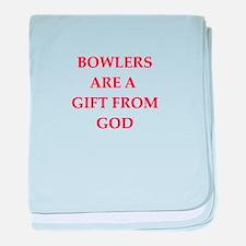 bowler baby blanket