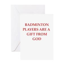 badminton Greeting Cards