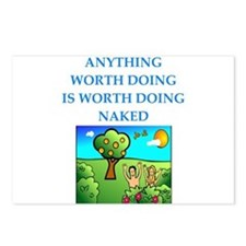do it naked Postcards (Package of 8)