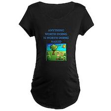 do it naked Maternity T-Shirt