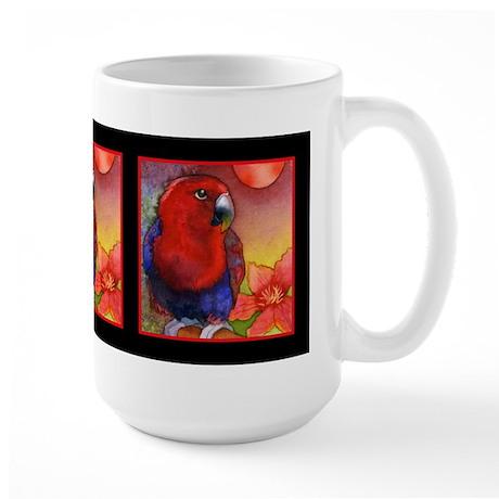 Red Eclectus Parrot Large Mug