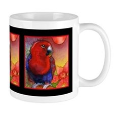 Red Eclectus Parrot Mug