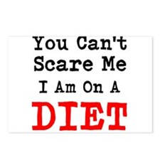 You Cant Scare me I Am On a Diet Postcards (Packag