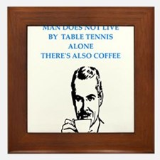 table tennis Framed Tile