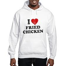 I Love [Heart] Fried Chicken Jumper Hoody