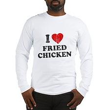 I Love [Heart] Fried Chicken Long Sleeve T-Shirt