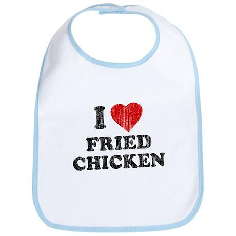 I Love [Heart] Fried Chicken Bib