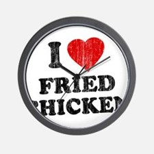 I Love [Heart] Fried Chicken Wall Clock