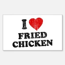 I Love [Heart] Fried Chicken Rectangle Decal