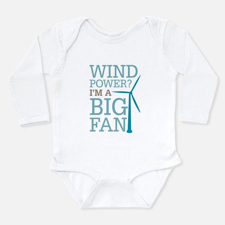 Wind Power Big Fan Long Sleeve Infant Bodysuit