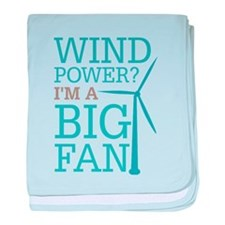 Wind Power Big Fan baby blanket