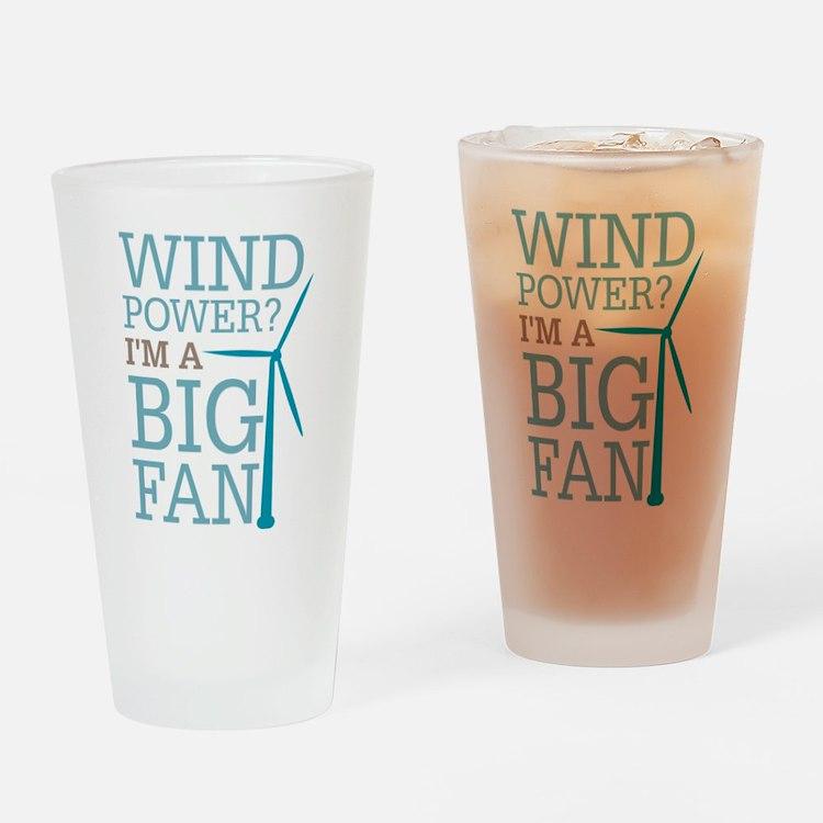 Wind Power Big Fan Drinking Glass