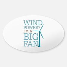 Wind Power Big Fan Decal