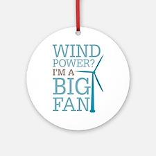 Wind Power Big Fan Ornament (Round)