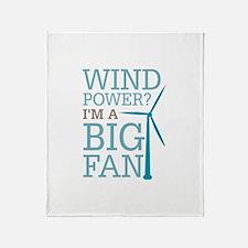 Wind Power Big Fan Throw Blanket