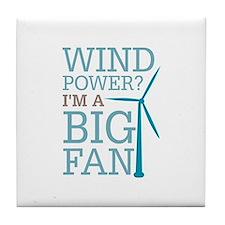 Wind Power Big Fan Tile Coaster