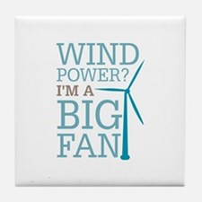 Wind Power Big Fan Tile Coaster