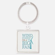 Wind Power Big Fan Square Keychain