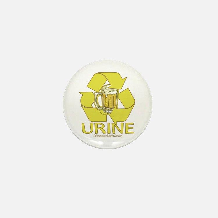 Recycle Urine Mini Button