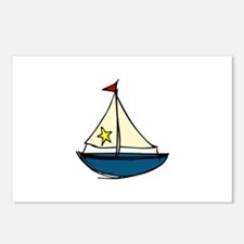 Sail Boat Postcards (Package of 8)
