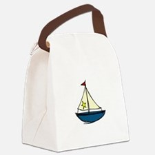 Sail Boat Canvas Lunch Bag