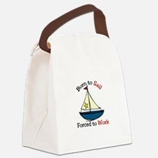 Born To Sail Canvas Lunch Bag