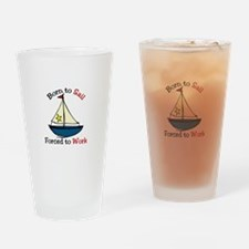 Born To Sail Drinking Glass