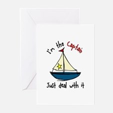 Im The Captain Greeting Cards