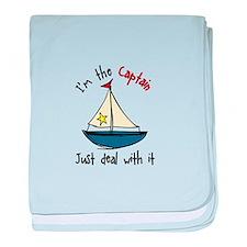 Im The Captain baby blanket