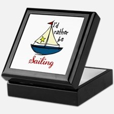 Rather Be Sailing Keepsake Box