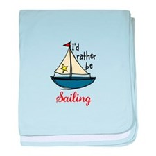 Rather Be Sailing baby blanket