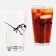 Velociraptor Skeleton Drinking Glass
