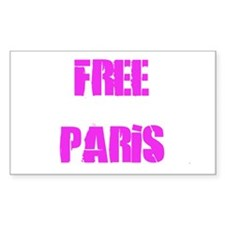 Free Paris Rectangle Decal