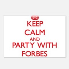 Keep calm and Party with Forbes Postcards (Package