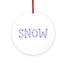 Snow Flake Text Ornament (Round)