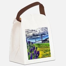 View from Ft. Baker, Sausalito Canvas Lunch Bag