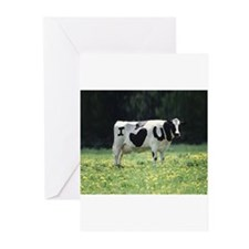 I Love You Cow Greeting Cards