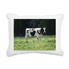 I Love You Cow Rectangular Canvas Pillow