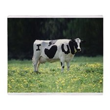I Love You Cow Throw Blanket