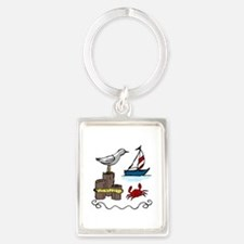 Nautical Scene Keychains