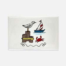Nautical Scene Magnets
