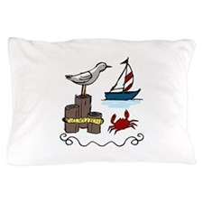 Nautical Scene Pillow Case